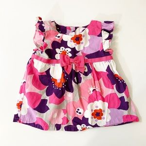 Toddler Girl Pink/Purple Floral Top  12-18 MO